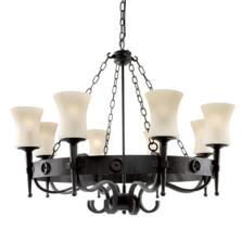 Cartwheel Ceiling Light - 8 Light - 0818-8BK