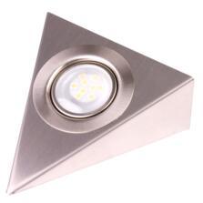 LED Triangle Undershelf Downlight - Stainless Steel