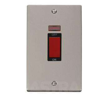 pearl nickel shower cooker isolator switch 45a with. Black Bedroom Furniture Sets. Home Design Ideas
