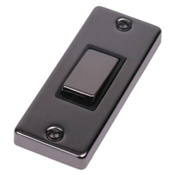 Black nickel architrave light switch single architrave for Housse switch