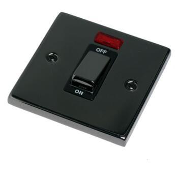 black nickel 45a dp shower cooker isolator switch ingot. Black Bedroom Furniture Sets. Home Design Ideas