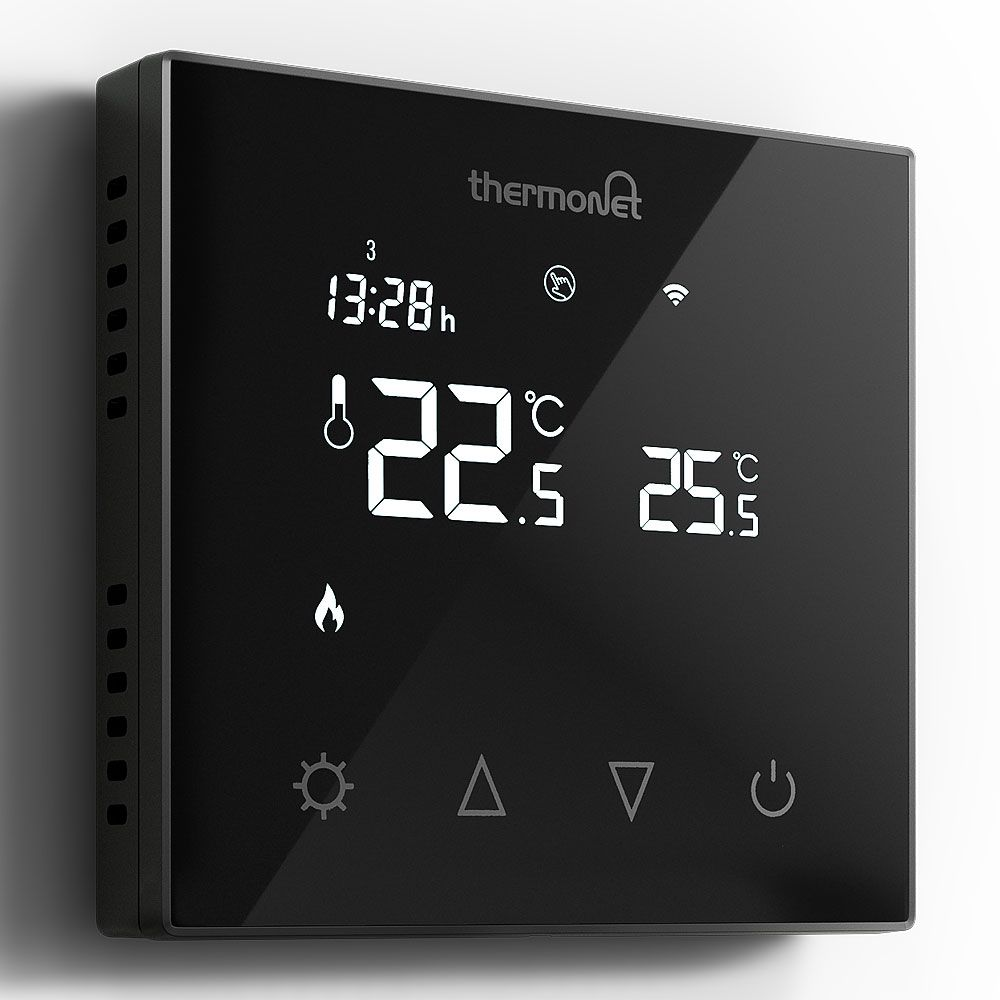 black digital programmer for electric under floor heating