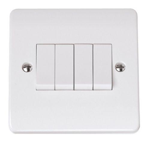 4 Gang Light Switch On Single Plate