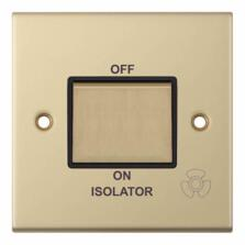 Slimline Fan Isolator Switch - Satin Brass