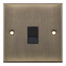 Slimline Antique Brass RJ45 Data Outlet Socket