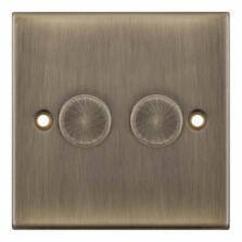 Slimline Antique Brass Dimmer Switch