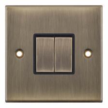 Slimline Antique Brass Light Switch -