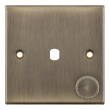 Slimline Antique Brass Empty LED Dimmer