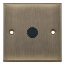 Slimline Antique Brass 20A Flex Outlet Plate - 1 Gang Single