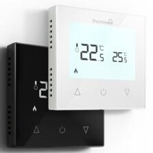 Manual Touchscreen Thermostat  - White Glass