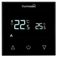 Manual Touchscreen Thermostat  - Black Glass