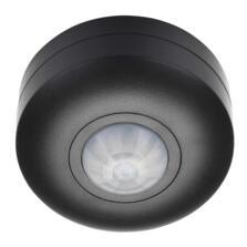 Black 360 Degree Ceiling PIR Motion Sensor