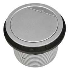 Recessed Wall/Worktop Kitchen Socket With USB - Single