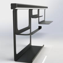 Sensio Midway LED Illuminated Hanging Rail System - Black - 1m Profile With LED Lighting & Driver
