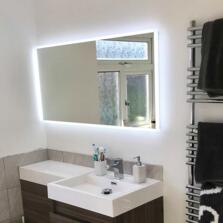 Glimmer Diffused LED Illuminated Bathroom Mirror - 1200mm x 600mm 24.65w
