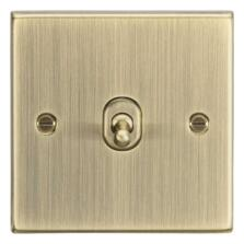 Antique Brass Toggle Light Switch