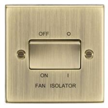 Antique Brass Fan Isolator Switch