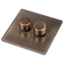 Screwless Antique Brass LED Dimmer Switch