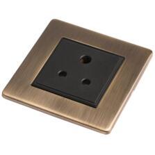 Screwless Antique Brass 5a Round Pin Socket
