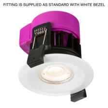 Matt White 6w LED Fire Rated Downlight - 3000K Warm White Fitting