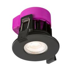 Matt Black 6w LED Fire Rated Downlight
