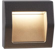 Ankle Outdoor LED Wall/Ceiling Light  Dark Grey Finish - 0221GY