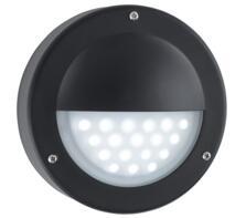 1 Light Outdoor LED Wall Light  Black Finish - 8744BK