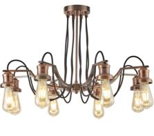 8 Light Vintage Ceiling Light Antique Copper