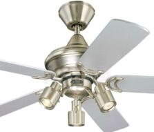 "Westinghouse Kingston Ceiling Fan with Light - 42"" Brushed Aluminium"