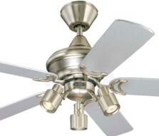 "Westinghouse Kingston Ceiling Fan with Light - 42"" Brushed Aluminium"