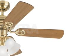 """Westinghouse Ceiling Fan with Light - 72122-78529 - 42"""" Satin Brass"""