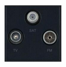 Eurodata Module 2 x Coaxial Male & Female + 1 x F-Type Satellite Isolated with Faraday Cage