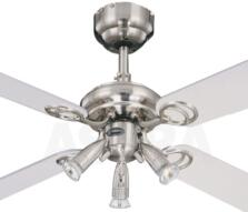 "Westinghouse Pearl Ceiling Fan with Light  - 42"" (1050mm) Stainless Steel"