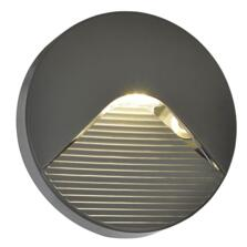 Breez Round Surface Guide 2W LED Light IP65 Anthracite With Slatted Diffuser