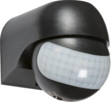 IP44 180° Mini PIR Sensor - Black