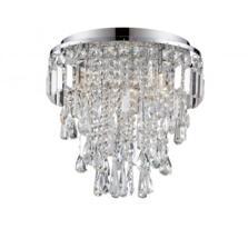 Bresna 3 Warm White LED Crystal Flush Ceiling Fitting in Polished Chrome Finish