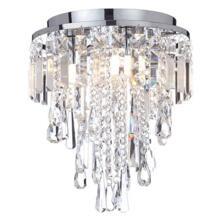 Bresna 28cm Mixed Crystal Flush Bathroom Ceiling Light