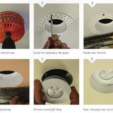 ShieldECO Trimless 4W LED Downlight Matte White - Warm White