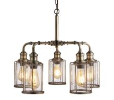 5 Light Ceiling Pendant Antique Brass Finish