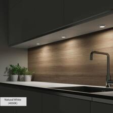 Bermuda Colour Switchable LED Triangular Under Cabinet Light - Single Head Colour Adjustable
