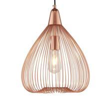 Vintage Copper Cage 1 Light Pendant