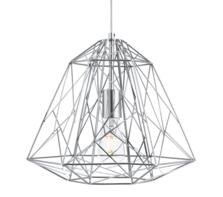Geometric Chrome Cage Pendant Light