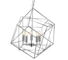 Vintage Chrome 5 Light Cage Pendant