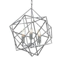 Chrome 3 Light Cage Pendant