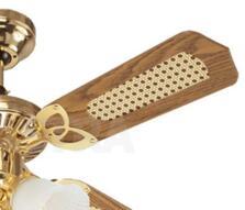 "Westinghouse Princess Trio Ceiling Fan Light-Brass - 42"" Polished Brass"