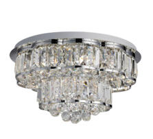Hayley Chrome 6 Light Ceiling Fitting With Crystal Drops