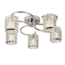 Royal Chrome Ceiling Light With Crystal Glass
