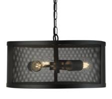 Fishnet Matt Black Cage 3 Light Pendant