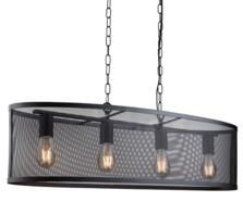 Fishnet Matt Black Cage 4 Light Pendant