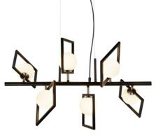 Matt Black 6 Light Ceiling Pendant